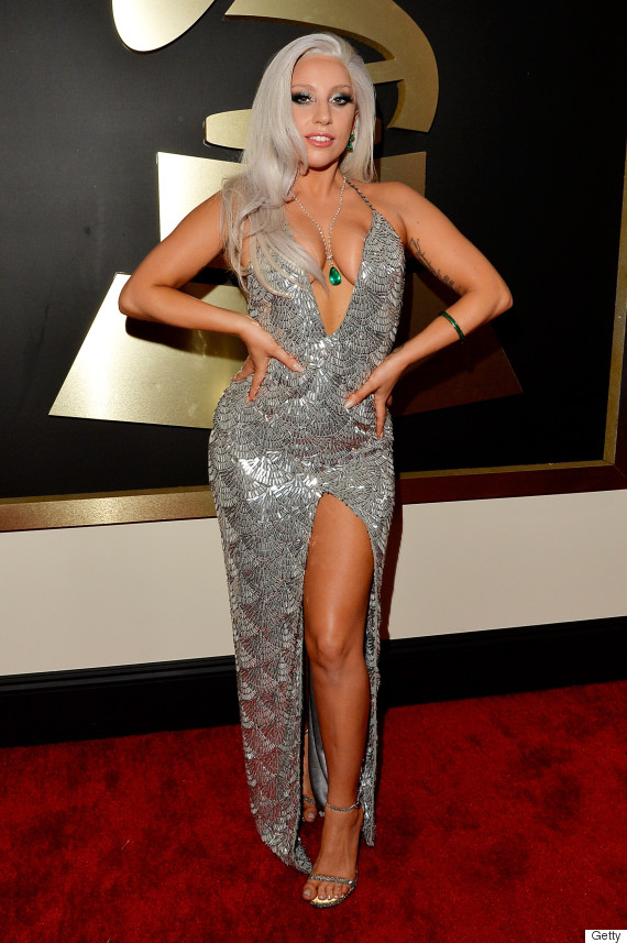 Lady Gagas 2015 Grammys Dress Tones It Down Kind Of