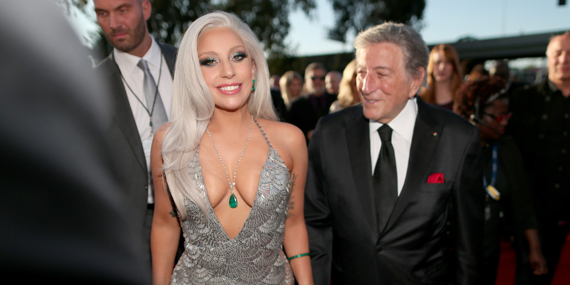 Lady Gaga S 2015 Grammys Dress Tones It Down Kind Of