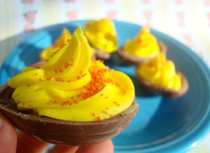 Cadbury Creme Deviled Eggs