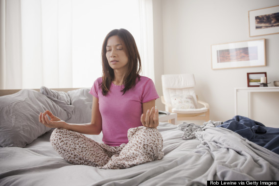 meditate in bed