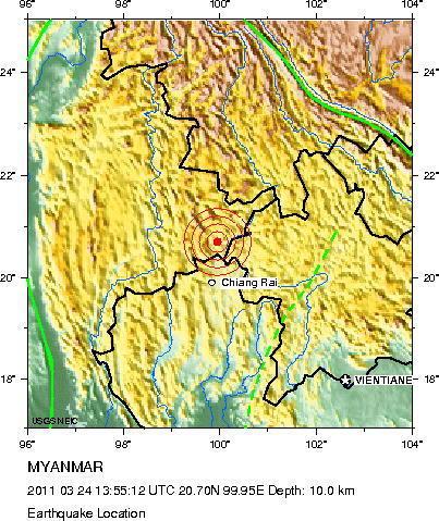 Burma MAP Myanmar Hit By Earthquake PICTURES HuffPost - Burma map