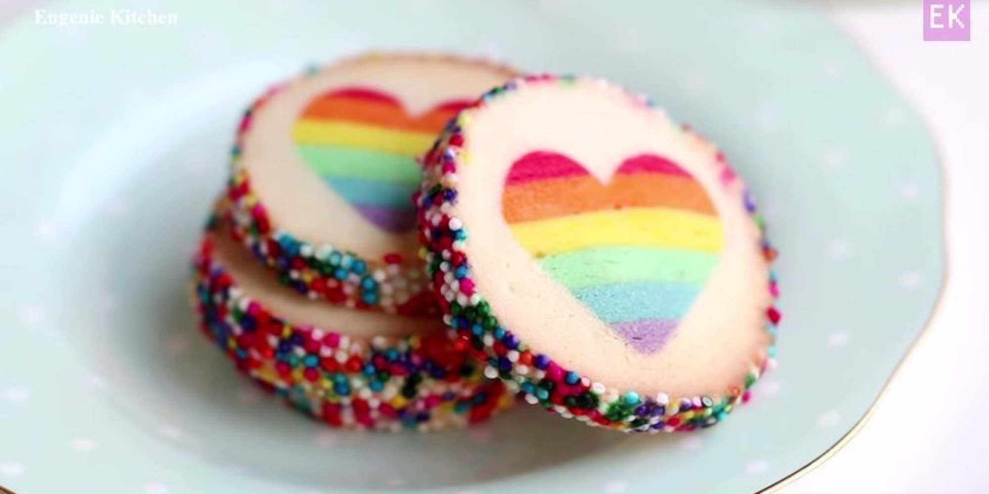 Make These Rainbow Heart Cookies And Prove You're Truly In Love | The ...