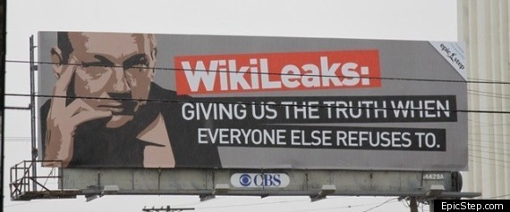 WIKILEAKS BILLBOARD LOS ANGELES