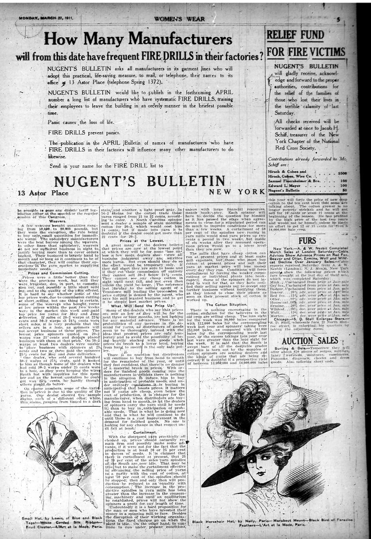 triangle shirtwaist fire articles