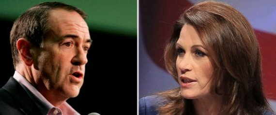 Michele Bachmann Mike Huckabee