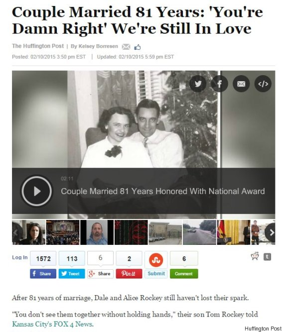 couple married 81 years