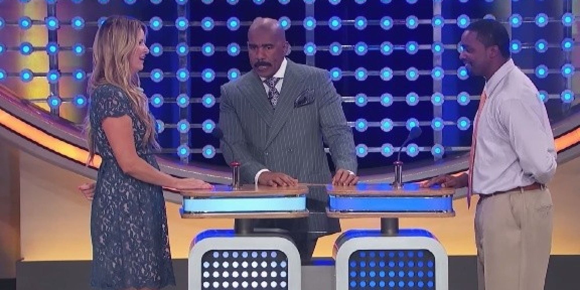 Family feud contestant says awkward answer a little too quickly