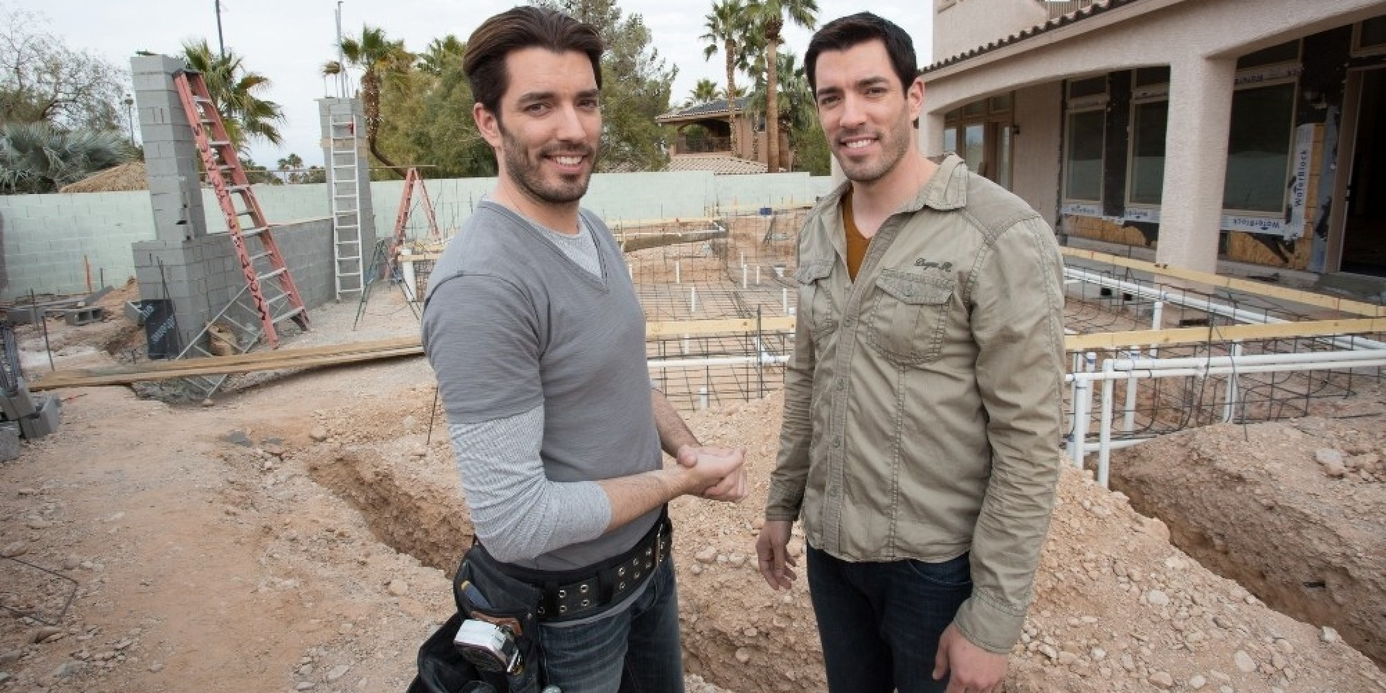 39 property brothers at home 39 jonathan and drew scott take on biggest project yet. Black Bedroom Furniture Sets. Home Design Ideas