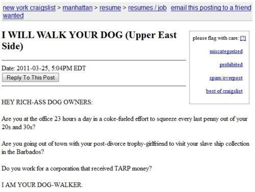 click the image to see the full ad dog walker resume - Dog Walker Resume