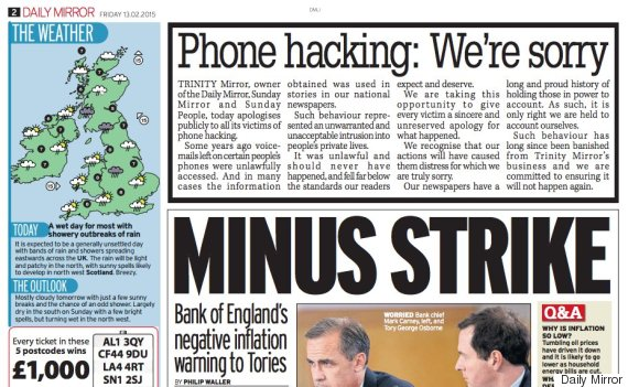daily mirror phone hacking