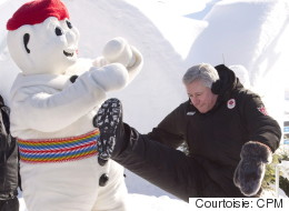 Stephen Harper rend visite au Carnaval de Québec