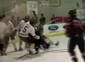 Texas State Championship Hockey Brawl