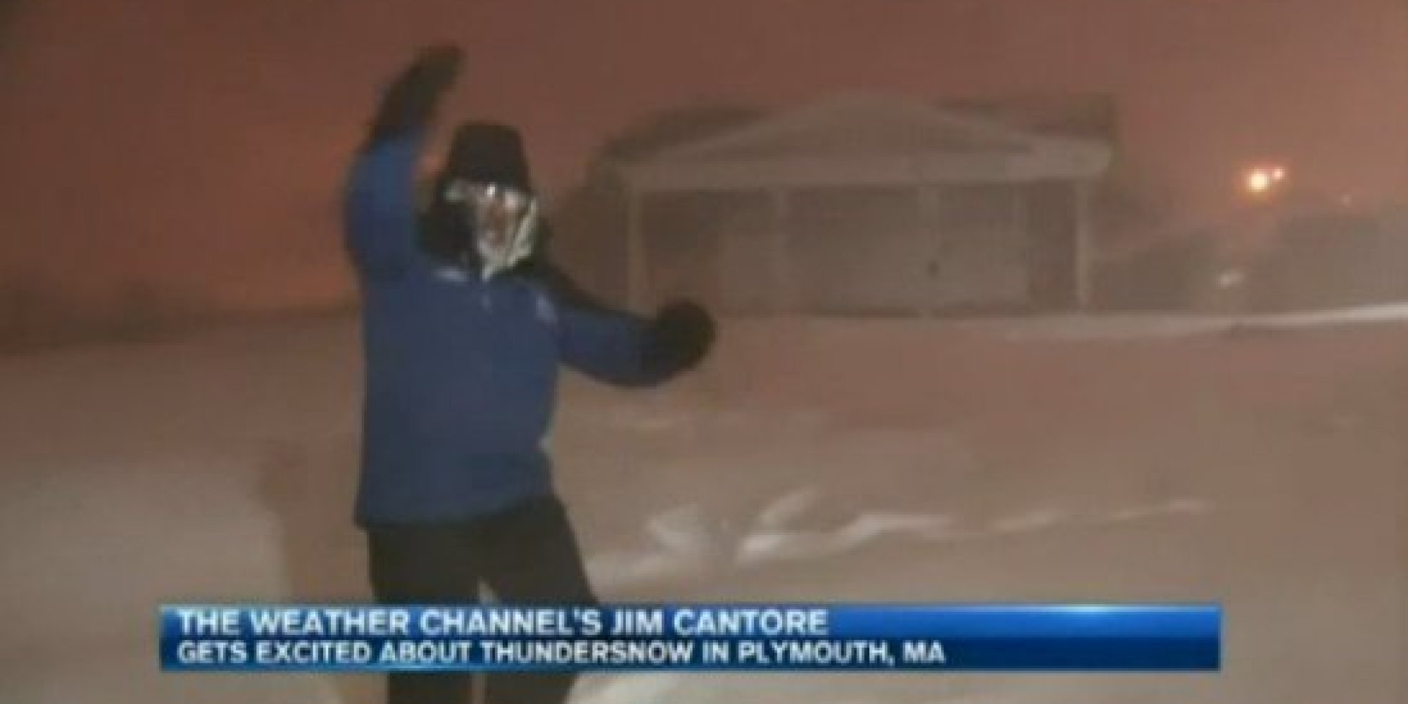 jim cantore u0026 39 s reaction to thundersnow is amazing