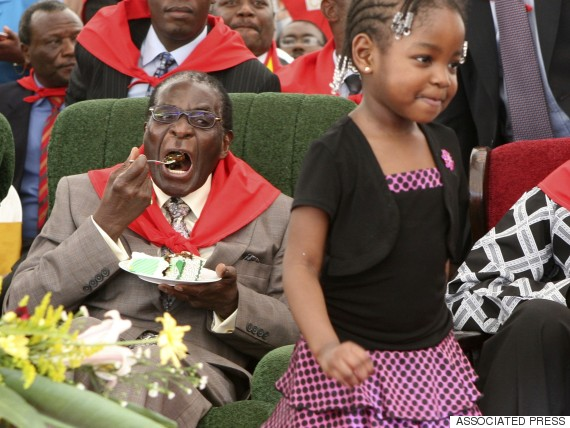 robert mugabe eating