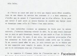 Une lettre d'Éric Salvail à Julie Snyder qui date de 1993...