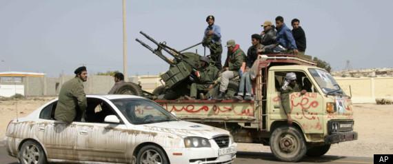 LIBYA REBELS GUNS