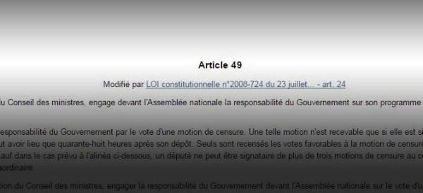 Au fait, c'est quoi le 49-3, cet article de la Constitution si utile et si critiqué?