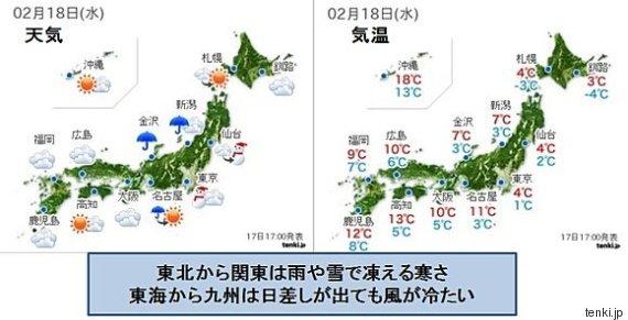 18日の天気・気温