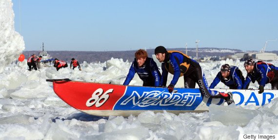 ice canoe race