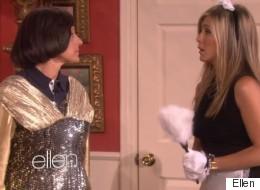 Watch Ellen Slap Jennifer Aniston Silly