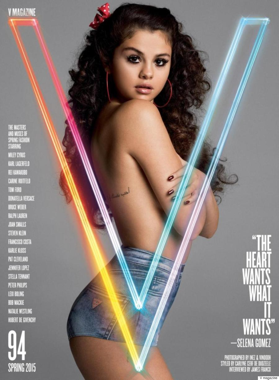 Selena Gomez Covers V Magazine In Lolita-Inspired Photo ShootSelena Gomez No Shirt