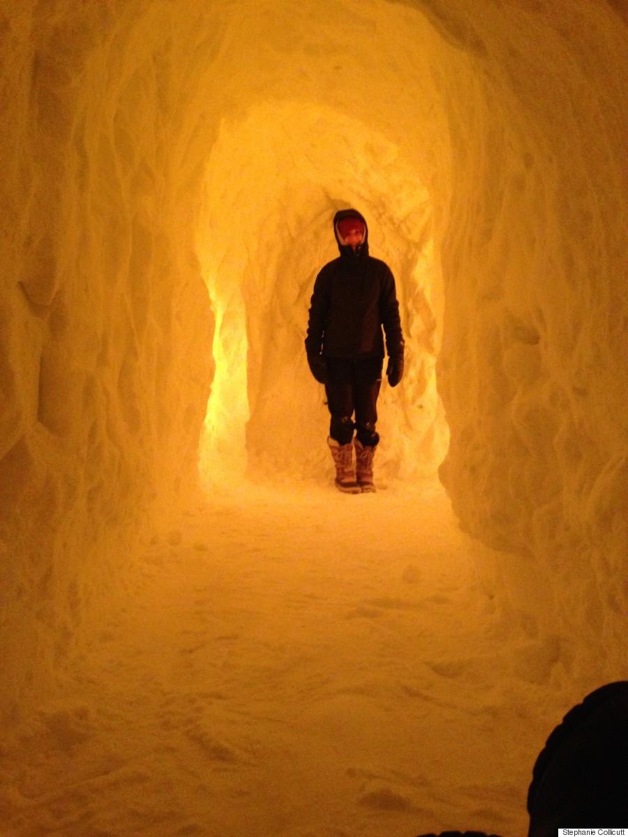 maritime snow tunnel