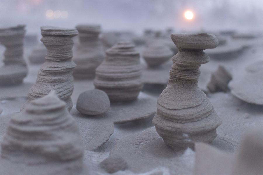 sand setting sun