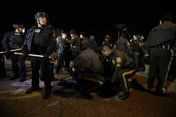 ferguson police arrest