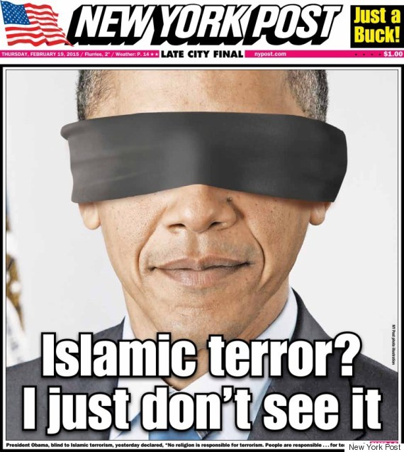 New York Post Puts A Blindfold On Obama In Outrageous Front Page | The ...