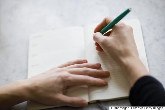 writing in journal sleep