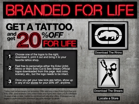 Ecko Offers 20 Percent Off For Life For Anyone Who Gets