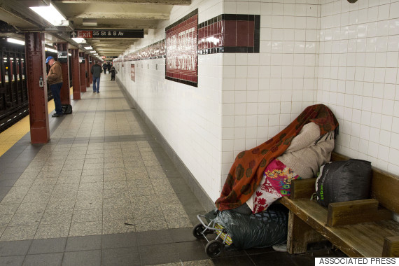 homeless nyc subway