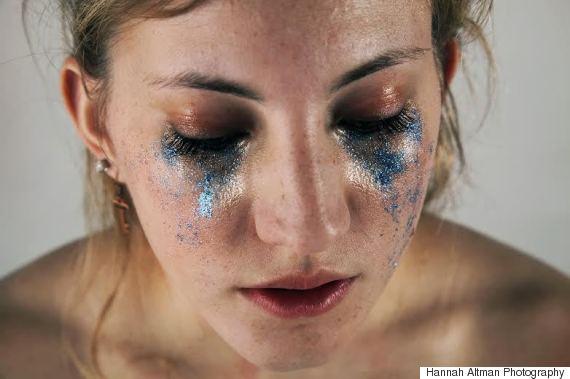 tears glitter