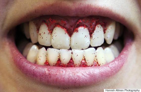 teeth glitter