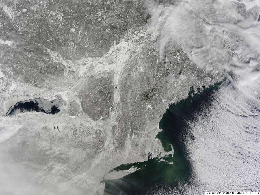 nasa frozen lakes