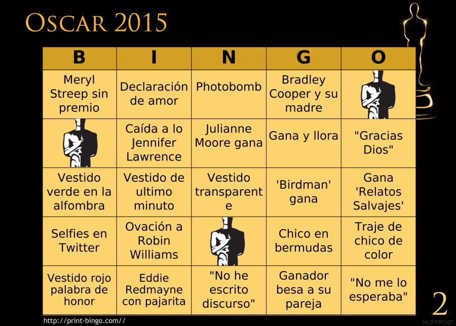 bingo oscar 2