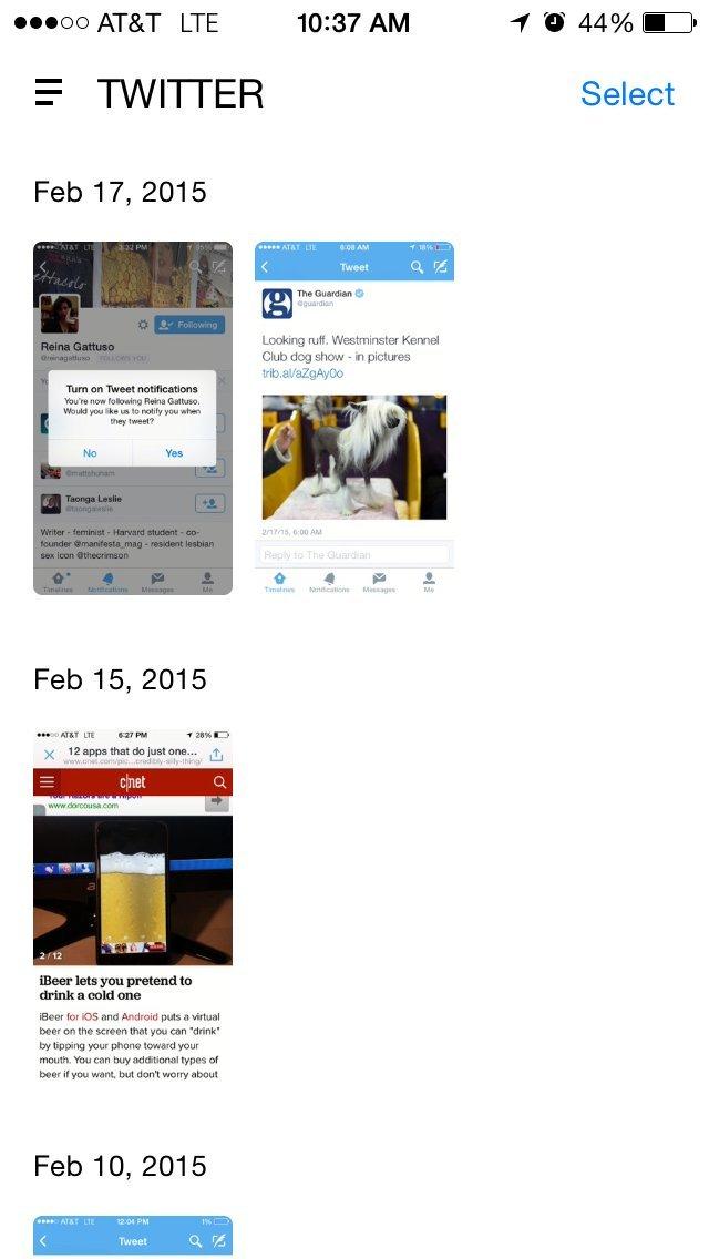 screenshots twitter folder
