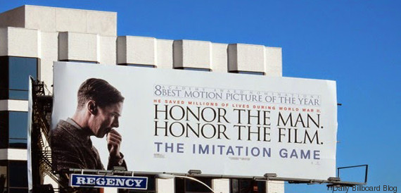 imitation game billboard