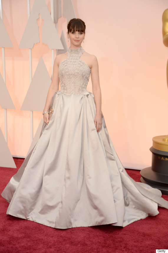 felicity jones oscar dress