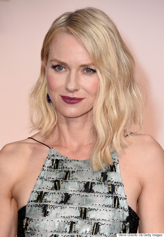 Naomi Watts' Oscar Dress 2015 Includes A Bandeau And Lots Of Shimmer ... Naomi Watts