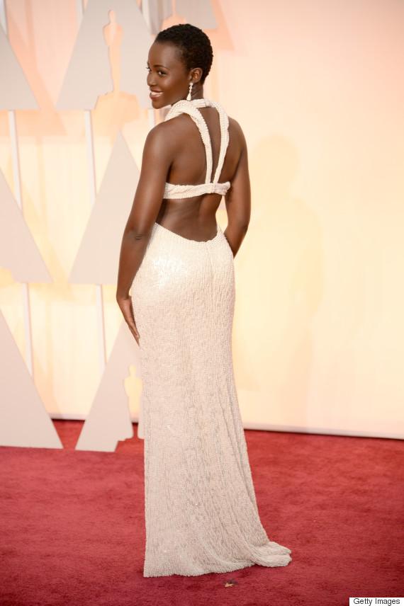 Lupita Nyong O Oscar Dress 2015 Takes Pearls To An