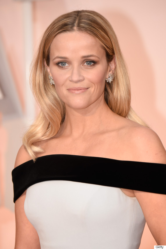 Reese Witherspoon's Oscar Dress 2015 Is Black And White And Looks Very ... Reese Witherspoon