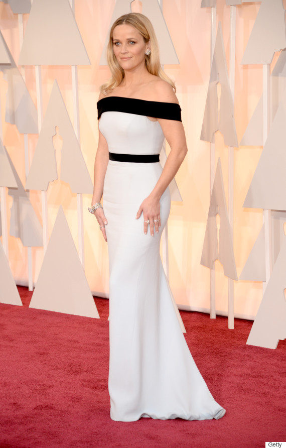 Reese Witherspoons Oscar Dress 2015 Is Black And White