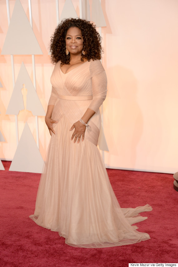 Oprah\'s Oscar Dress 2015 Is A Beautiful Gown Fit For A TV Queen ...