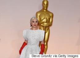 Gaga Brings 'Washing-Up Chic' To The Oscars Red Carpet