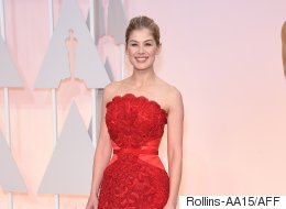 Rosamund Demonstrates How Red CAN Work On The Red Carpet