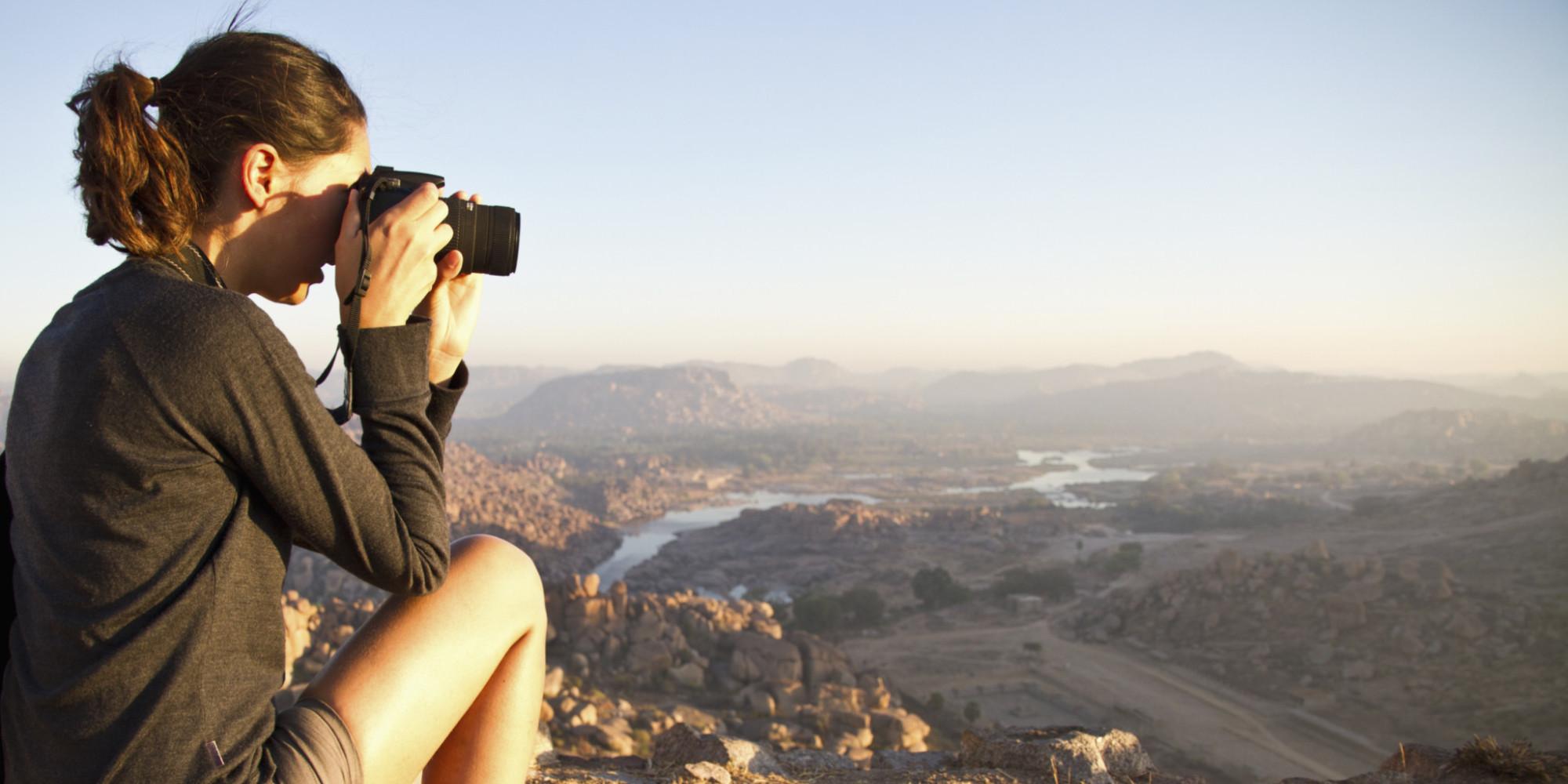 Single Woman Traveling The World