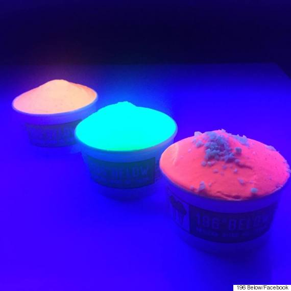 glow in the dark ice cream