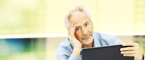 Older Person Staring At Computer