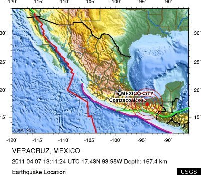 Mexico Earthquake MAP Intensity Impacted Locations HuffPost